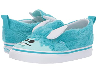 Vans Kids Slip-On V (Toddler) ((Little Monsters) Scuba Blue/Blue Tint) Girls Shoes