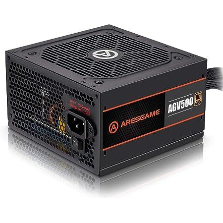 ARESGAME Power Supply 500W 80+ Bronze Certified PSU (AGV500)