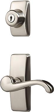 Ideal Security Inc. HK01-I-099 GL Lever Set for Storm and Screen Doors Keyed Deadbolt, 4-Piece, Satin Nickel