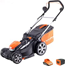 Yard Force 40V 37cm Cordless Lawnmower with lithium ion battery & quick charger LM G37A - GR 40 range