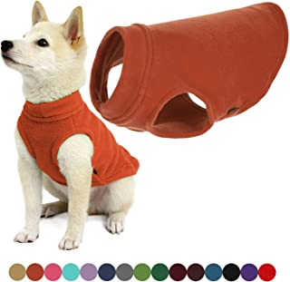 Gooby - Stretch Fleece Vest, Pullover Fleece Vest Jacket Sweater for Dogs, Pumpkin, Small