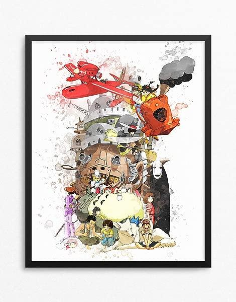 工作室吉卜力印花工作室吉卜力海报宫崎骏动漫印花动漫海报 N 011 16X20 寸