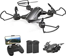 Holy Stone HS310 Drone with HD Camera, Small, Foldable, for Beginners, Indoors, 2 Batteries, Flight Time: 24 Minutes, 7.1 oz (200 g), FPV, Real Time, Altitude Hold, 2.4 GHz, 4CH Multicopter, Tumbling, Mode 1/2 Free Conversion, Certified in Japan