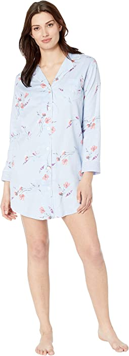 Pointed Notch Collar Sleepshirt