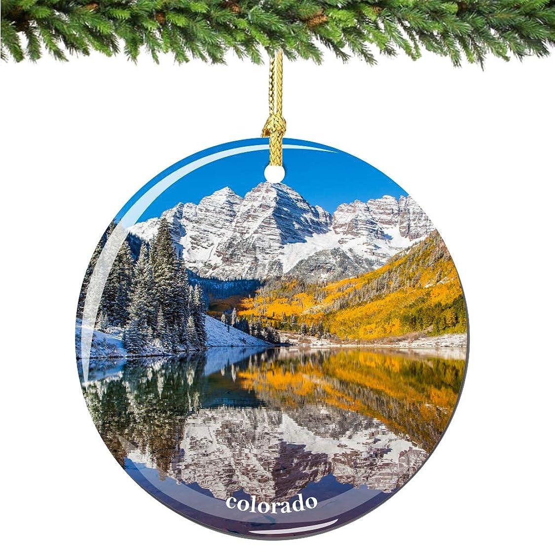 子供達チョップくすぐったいコロラド州シティ?スーベニール クリスマスオーナメント 磁器 両面 2.75インチ