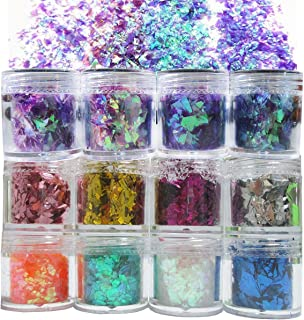 Orange and Black Glitter Epoxy Paint Chips Tumbler Glitter Motorcycle Blend Epoxy Flakes for Tumbler Making Man Glitter Man Flakes