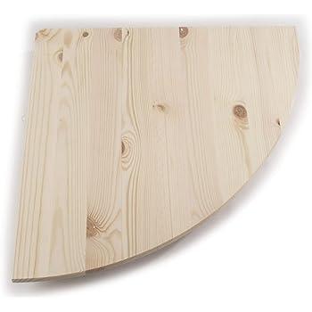 Mensola angolare in legno naturale di pino, 3 dimensioni