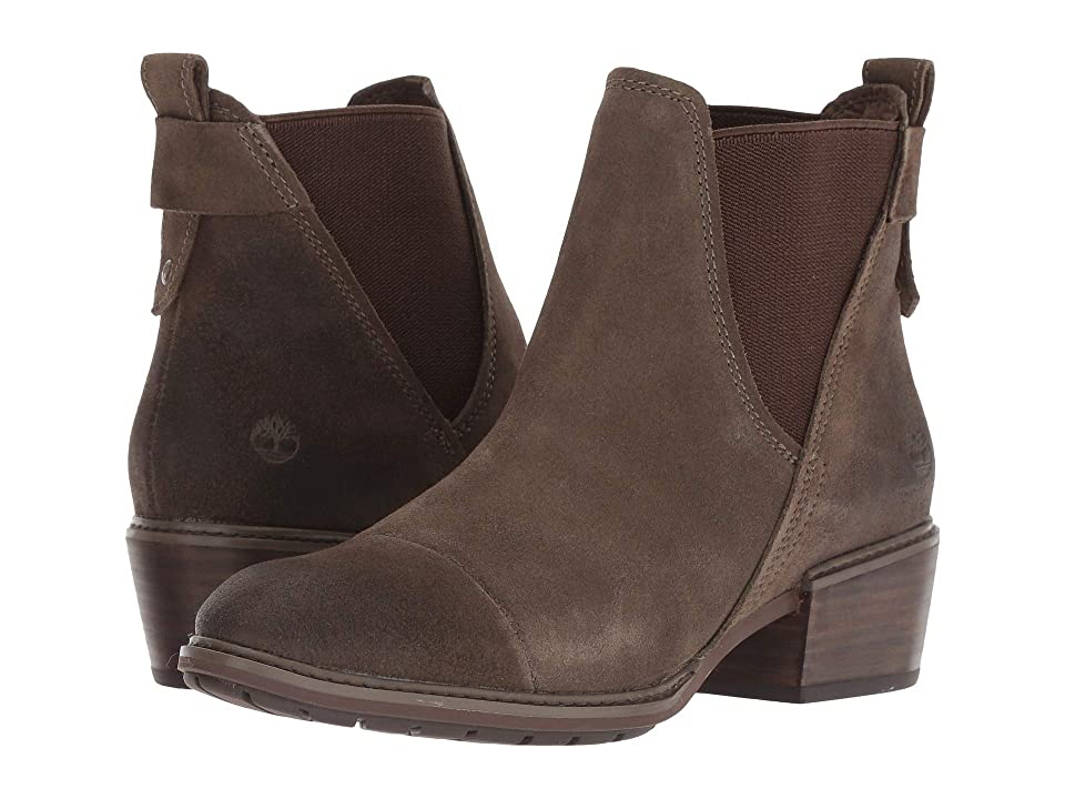 Timberland Sutherlin Bay Double Gore Chelsea (Olive Suede) Women