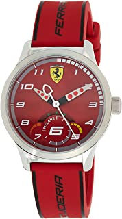 Ferrari Unisex-Adult Quartz Watch, Analog Display and Silicone Strap 860004