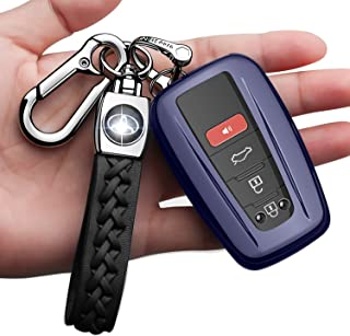 only for Keyless go yasfandr for Toyota Key Fob Cover,Silicone Key Case Cover Protector Compatible for 2018 2019 2020 Toyota RAV4 Series Camry Avalon C-HR Prius Corolla with Cute Cartoon Keychains