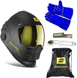 ESAB Sentinel A50 Automatic Helmet, BAG, WELDING GLOVE, STRIKER, & TIP CLEANER 0700000800