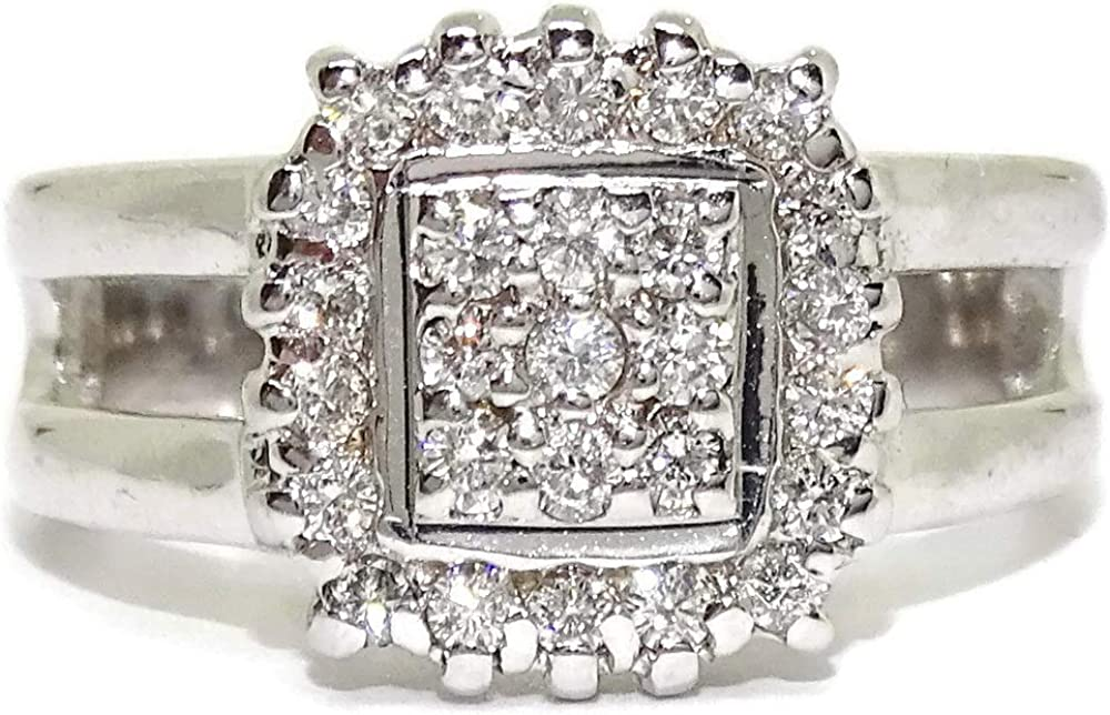 Never say never anello in oro bianco 18 k con 27 diamanti da 0,5 ct 99779562