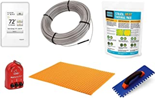 Schluter Ditra Signature Floor Heating Kit -32 Square Feet- Includes Touchscreen Programmable Thermostat, Heat Membrane, Heat Cable DHEHK12032, Safe Installation Tools, Heat Enhancing Additive