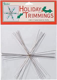 Darice Bulk Buy DIY Ornament Form Snowflake Large 6 inches (6-Pack) 1956-18
