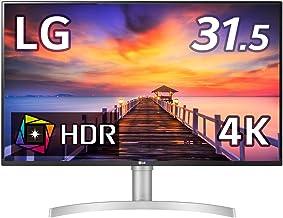 LG フレームレス モニター ディスプレイ 32UN550-W 31.5インチ/4K/HDR/VA非光沢/HDMI×2、DP/FreeSync対応/スピーカー搭載/高さ調節/フリッカーセーフ、ブルーライト低減