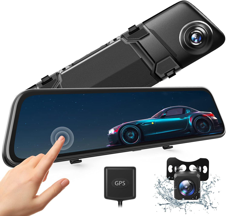 2.5K Mirror Dash Cam w/ 12