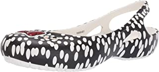 Crocs Womens 205656-066 Kadee Minnie Dots Slingback Flat Black Size: