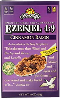 Food For Life Baking Co. Cereal - Organic - Ezekiel 4-9 - Sprouted Whole Grain - Cinnamon Raisin - 16 oz - case of 6 - 95%...