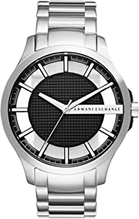 Armani Exchange Men's Black Dial Stainless Steel Band Watch - AX2179