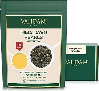 VAHDAM, Himalayan Pearls Green Tea Leaves   3.53 Oz (50 Cups)   Pure Green Tea Loose Leaf   RICH ANTI-OXIDANTS   Natural D...