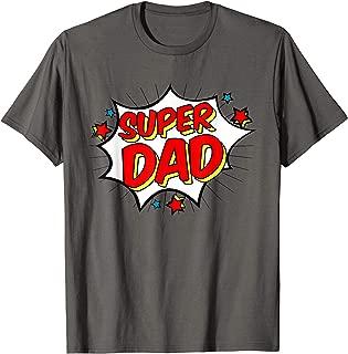 Superhero Super Dad T-Shirt Matching Family Hero Shirts