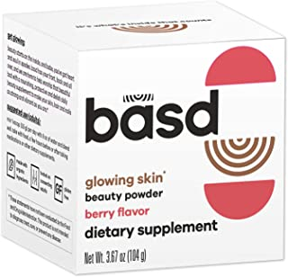 Sponsored Ad - Basd Beauty Powder, for Glowing Skin, Hair and Nail Dietary Supplement, Berry Flavour with Hyaluronic Acid ...