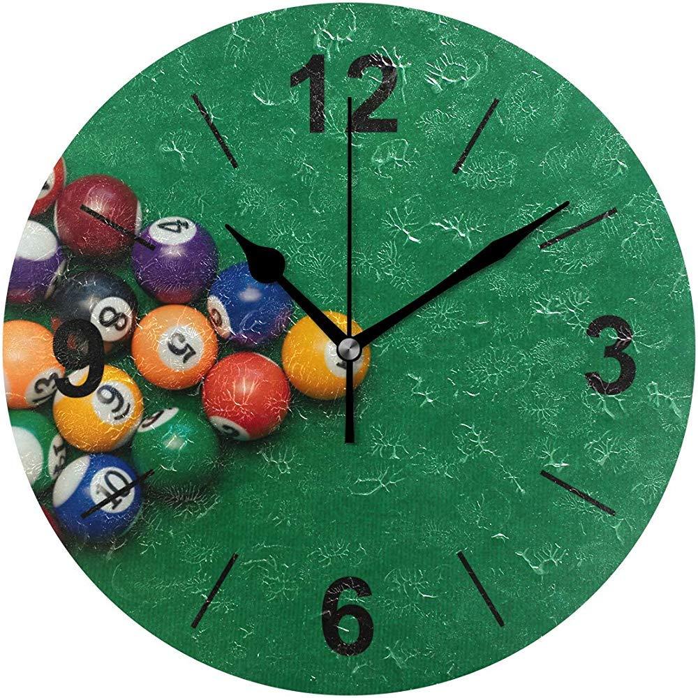 L.Fenn Reloj De Pared Billar Americano Redondo Piscina En Mesa ...