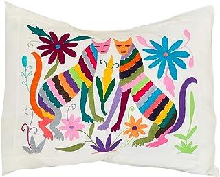 Otomi funda almohada | Funda almohada bordada 52 x 43 | Funda bordada a Mano | Otomi Mexico pillow case