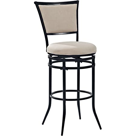 Amazon Com Crosley Furniture Rachel Swivel Bar Stool 30 Inch Black With Beige Cushion Furniture Decor