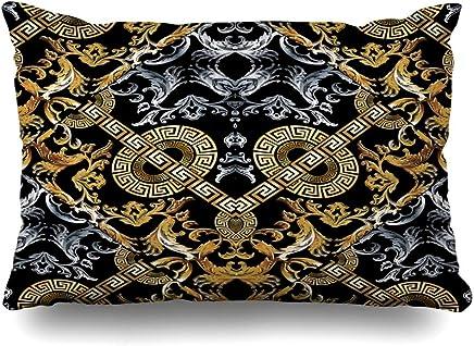 Mesllings Housse de Coussin Motif Floral Noir/Blanc 45,7 x 45,7 cm 2019 Décoration de la maison Coussins et accessoires