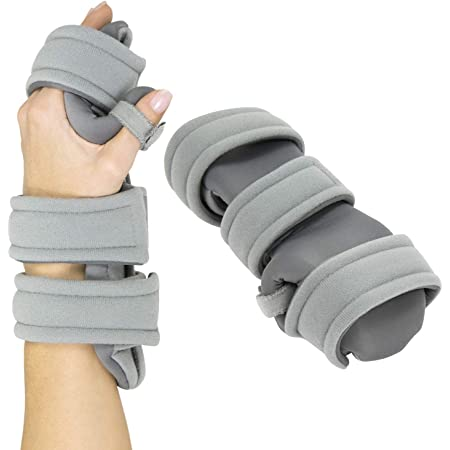 Vive Resting Hand Splint (Left) - Night Immobilizer Wrist Finger Brace - Thumb Stabilizer Wrap - for Arthritis, Tendonitis, Carpal Tunnel Pain - Functional Support for Sprains Fractures (Small)