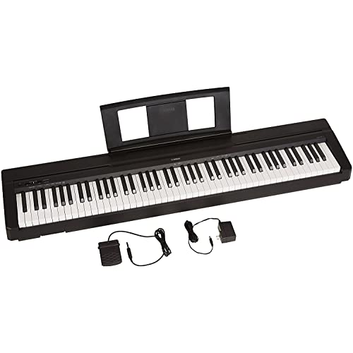 Yamaha P71 88-Key Weighted Action Digital Piano with Sustain Pedal and Power Supply (