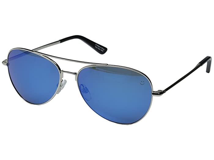 Spy Optic Whistler (Silver/Happy Gray/Green/Dark Blue Spectra) Metal Frame Sport Sunglasses