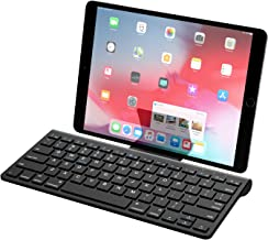 MoKo Bluetooth Keyboard, Wireless Ultra Thin Computer Keyboard with A Removable Bracket for Android, Windows, iOS, Phone, Tablet - Black