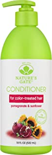 Nature's Gate Pomegrante Sunflower Hair Defense Conditioner for Color-Enhanced Hair, 18 Ounce (Pack of 3)