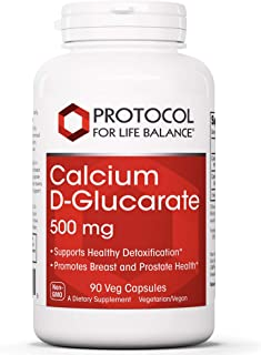 Protocol For Life Balance - Calcium D Glucarate 500mg - Supports Healthy Detoxification, Promotes Liver Detox, Breast, Col...