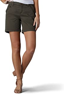 LEE Women's Straight Fit Tailored Zipper Short