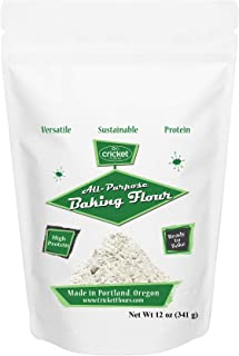 Cricket Flour: All Purpose Baking Flour 12oz (Blended Mix) – Made in Portland, Oregon with High Protein Cricket Protein Powder. Great for Baking Recipes and 25+ Recipe Cookbook Included