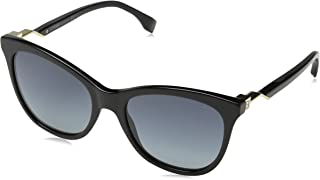 Fendi Women's Sonnenbrille FF0200S-807HD-55 Sunglasses, Black, 57