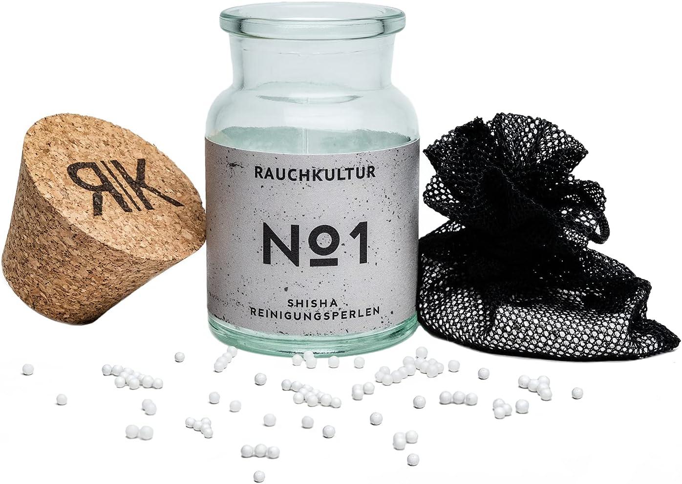 Rauchkultur® Perlas de limpieza para cachimba un resultado sin arañazos [2000 perlas] – Juego mejorado cerámica, limpiador cuenco alta calidad, accesorios cachimba, juego pipas