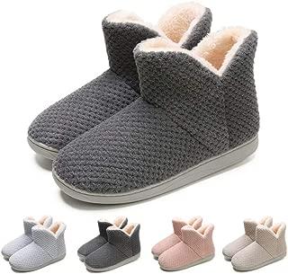 Junshide Women's Cozy Bootie Slippers Fuzzy Outdoor Indoor House Slippers