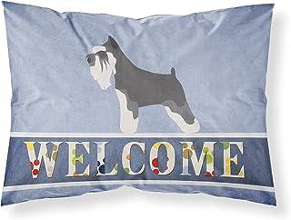 Caroline's Treasures Miniature Schnauzer Welcome Pillowcase, Standard,