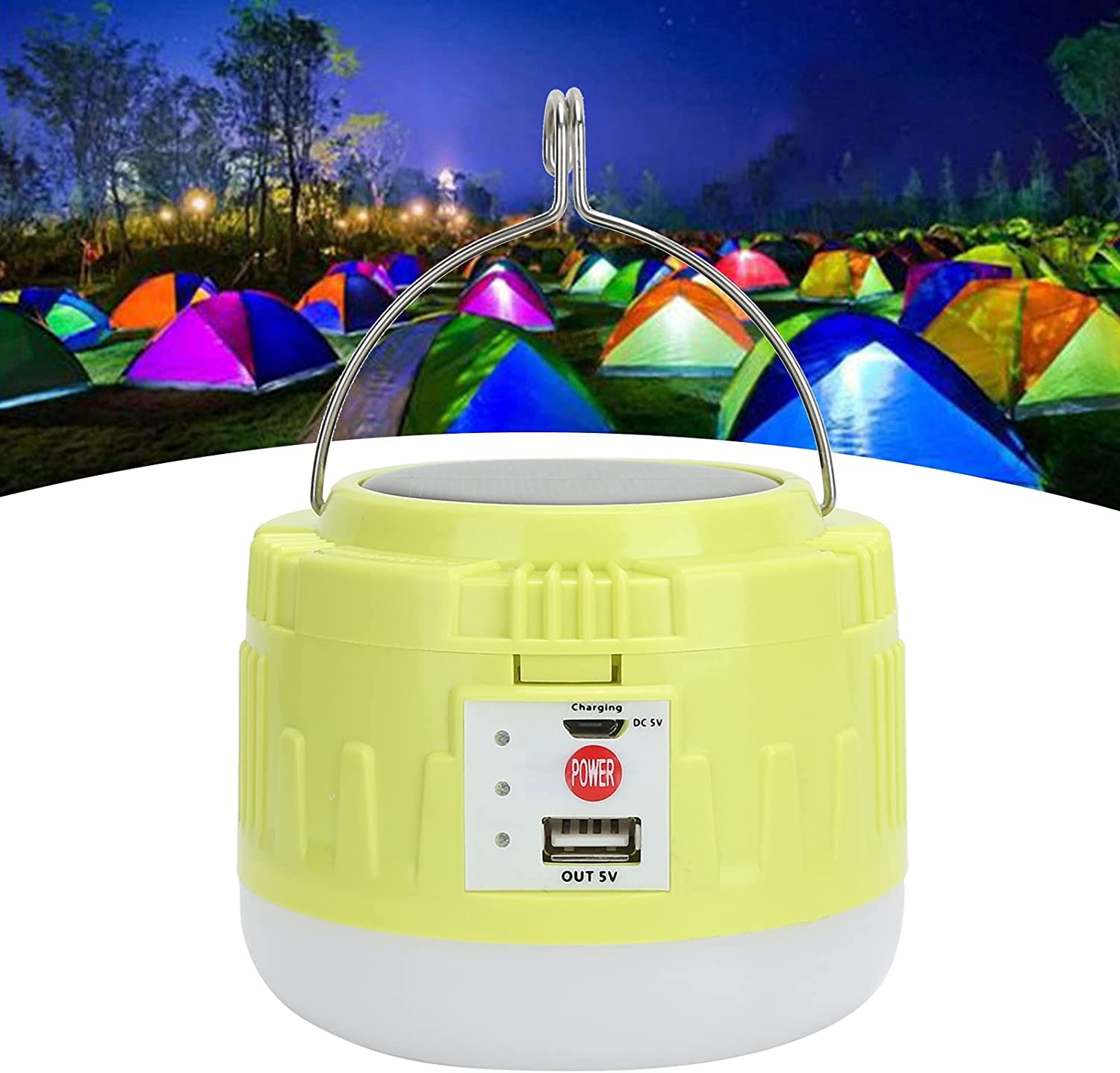 Max 81% Max 41% OFF OFF Solar Powered Lantern Camping Light Practical USB Durable