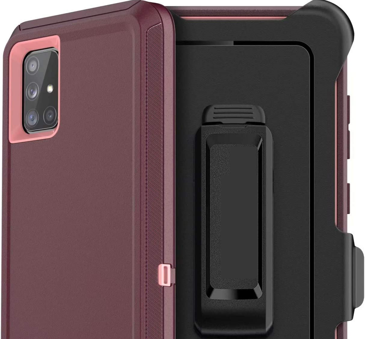 HIQUE Case for Samsung Galaxy S20 FE (Fan Edtion) 5G,[NO Screen Protector][Heavy Duty][Drop Protection] Tough Case for S20 FE Multiple Layers - with Holster/Clip Burgundy