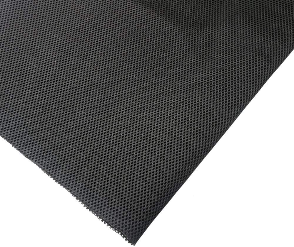 KISSTAKER 57x20inch Speaker Fabric Cloth - Stereo Grill Mesh for Speaker Box Repair-Black-Recover Your Speaker in Minutes : Electronics