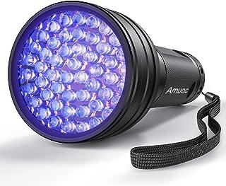 Amuoc UV Flashlight Black light UV Lights, 51 LED Blacklight Pet Urine Detector For Dog/Cat Urine,Dry Stains,Bed Bug, Matching with Pet Odor Eliminator(Batteries Not Included)