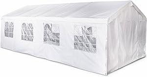 Alice's Garden - Tente de réception 4 x 8 m - Lutèce - Blanc - tente de jardin idéale pour réception à utiliser comme pavillon, pergola, chapiteau ou tonnelle.