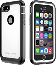 iPhone 7/8 Case, ImpactStrong Ultra Protective Case with Built-in Clear Screen Protector Full Body Cover for iPhone 7 2016 /iPhone 8 2017 (White)