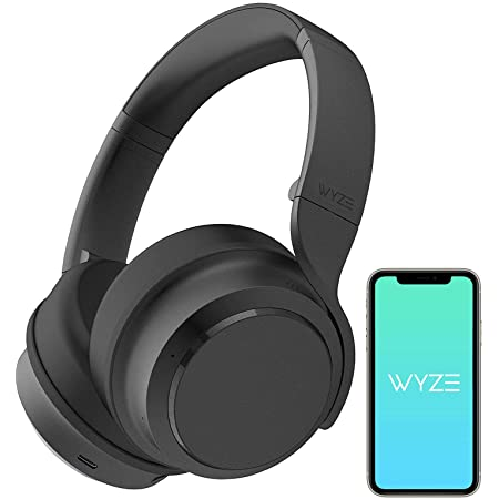 WYZE Noise Cancelling Headphones, Wireless Over The Ear Bluetooth Headphones with Active Noise Cancellation, High-Fidelity Sound, Transparency Mode, Clear Voice Pick-up, Alexa Built-in