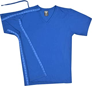 Post Surgery Recovery & Rehab Right Side Access Shirt with Hidden Snaps - V Neck